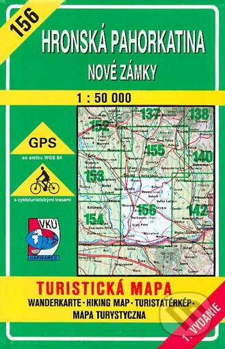 Peticenemocnicesusice.cz Hronská pahorkatina - Nové Zámky - turistická mapa č. 156 Image