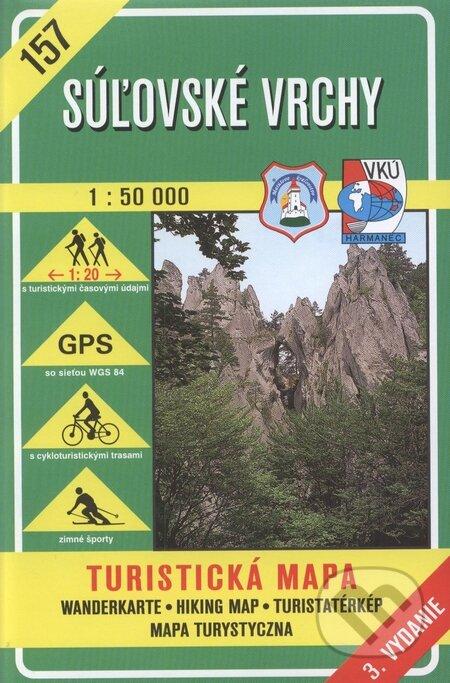 Bthestar.it Súľovské vrchy - turistická mapa č. 157 Image