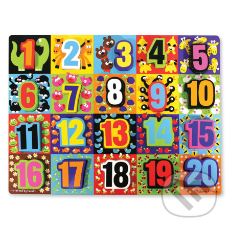 Veľké čísla - drevené kusové puzzle - Melissa and Doug