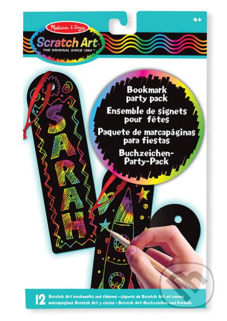 Sada Scratch Art - záložka do knihy - párty balenie - Melissa and Doug