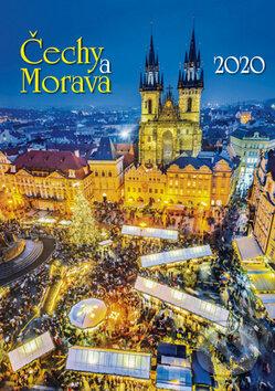 Čechy a Morava 2020 - nástěnný kalendář - BB/art