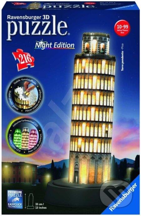 Puzzle noční edice 3D - Šikmá věž v Pise - Ravensburger