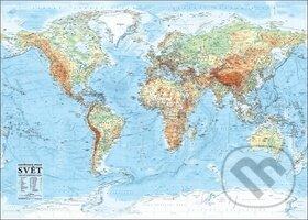 Svět nástěnná obecně zeměpisná mapa - Kartografie Praha