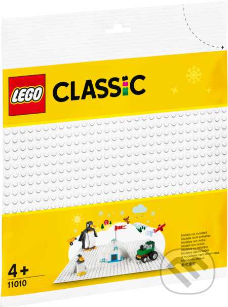 LEGO Classic - Biela podložka na stavanie - LEGO