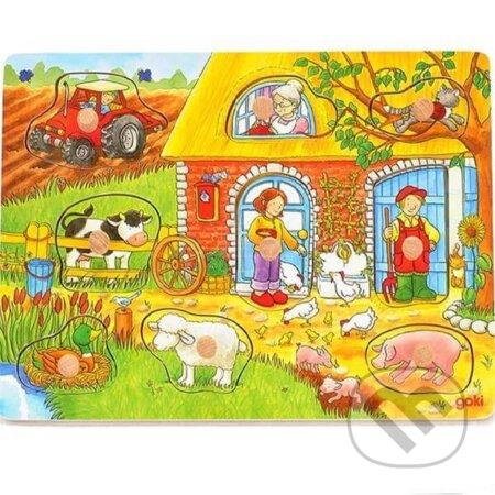 Vkladacie puzzle farma - Goki