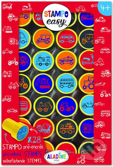 Samonamáčecí razítka StampoEasy - auta - Aladine