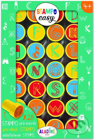Samonamáčecí razítka StampoEasy - abeceda - Aladine