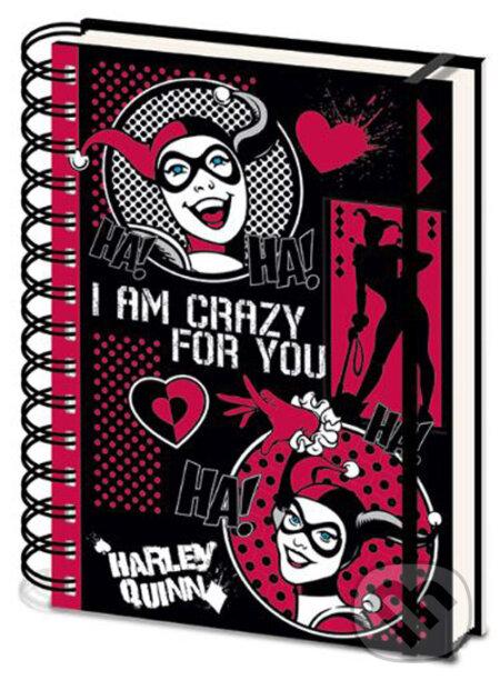 Blok-zápisník A5 DC Comics - Harley Quinn: I Am Crazy For You - Fantasy