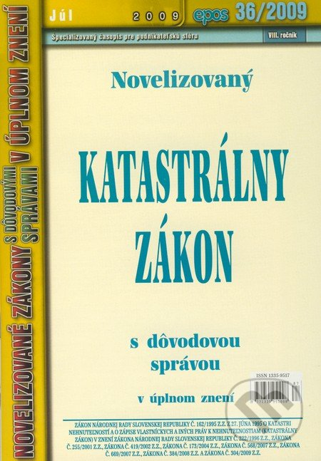 Fatimma.cz Novelizovaný Katastrálny zákon Image
