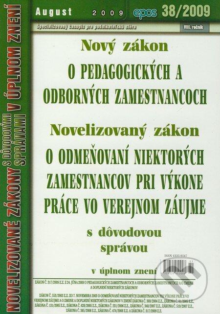Fatimma.cz Nový zákon o pedagogických a odborných zamestnancoch 38/2009 Image