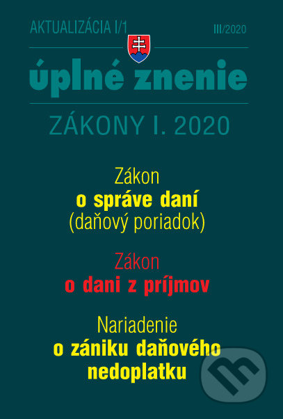 Fatimma.cz Aktualizácia I/1 2020 - Daňový poriadok, ZDP, Nariadenie o zániku daňového nedoplatku Image
