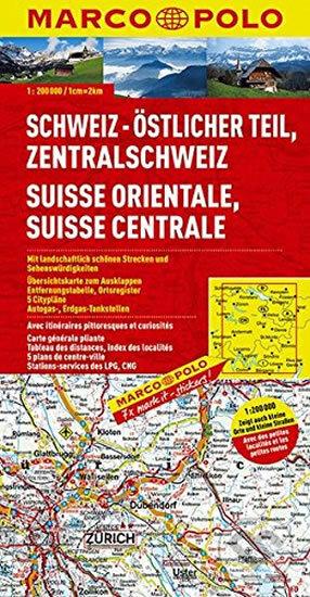 Švýcarsko 2 - východ/mapa - Marco Polo