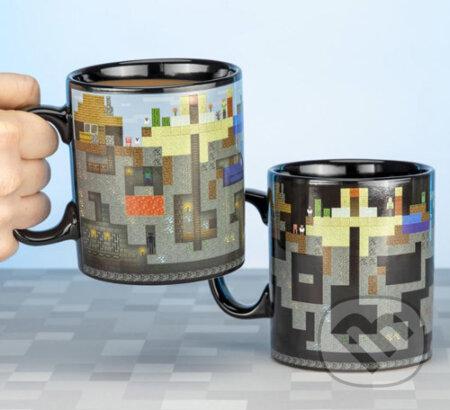 Čierny meniaci sa keramický hrnček Minecraft: XL