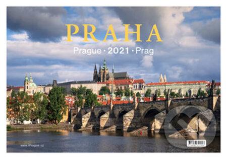 Kalendář stolní 2021 - Praha / Prague / Prag - Pražský svět