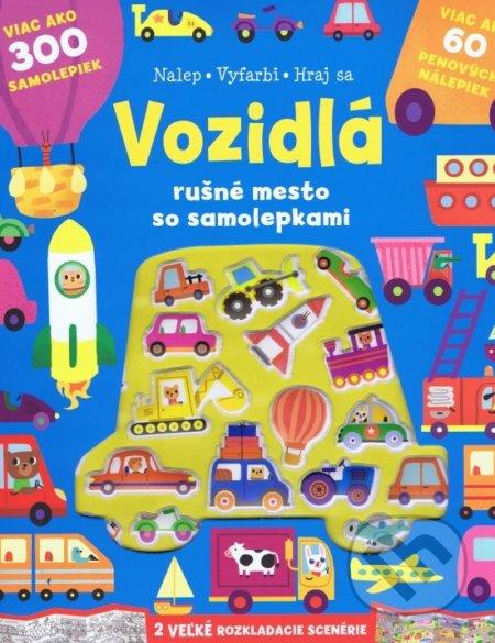 Vozidlá - rušné mesto so samolepkami - Svojtka&Co.