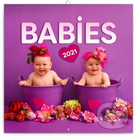 Poznámkový nástěnný kalendář Babies 2021 - Věra Zlevorová