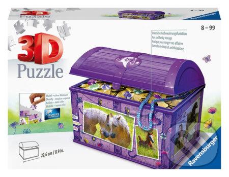 3D puzzle Úložná krabice s víkem - Kůň - Ravensburger
