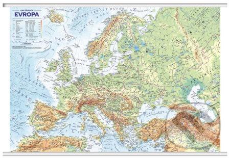 Evropa nástěnná obecně zeměpisná mapa - Kartografie Praha