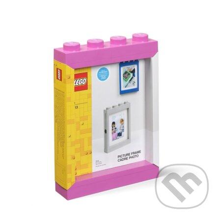 LEGO fotorámeček - růžová