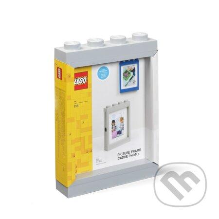 LEGO fotorámeček - šedá