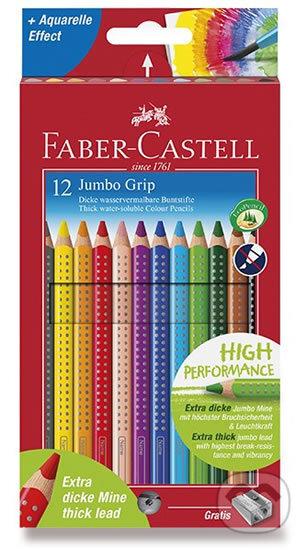 Faber - Castell Pastelky trojhranné Jumbo Grip - rozmývatelné 12 ks + ořezávátko - Faber-Castell