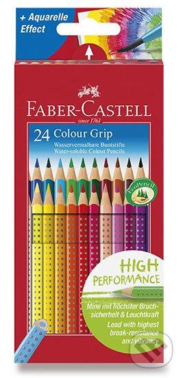 Faber - Castell Pastelky trojhranné Grip - rozmývatelné 24 ks - Faber-Castell