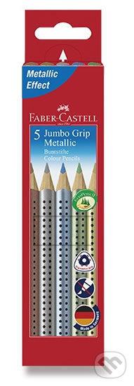 Faber - Castell Pastelky trojhranné Jumbo Grip - Metallic 5 ks - Faber-Castell