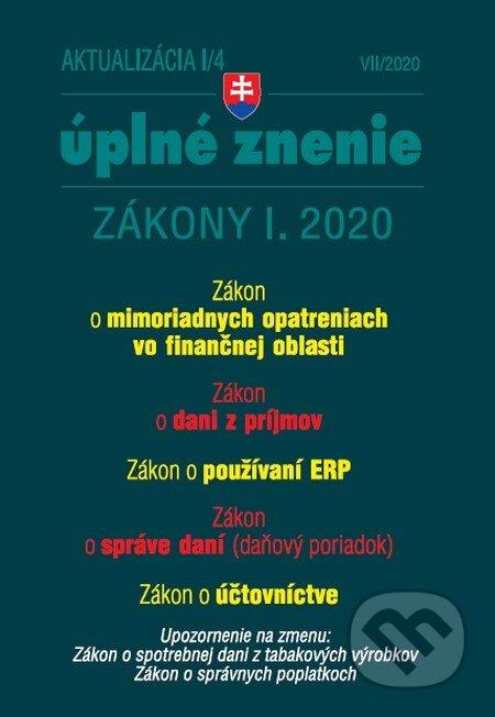 Aktualizácia I/4 - Zákony I. 2020 - Poradca s.r.o.