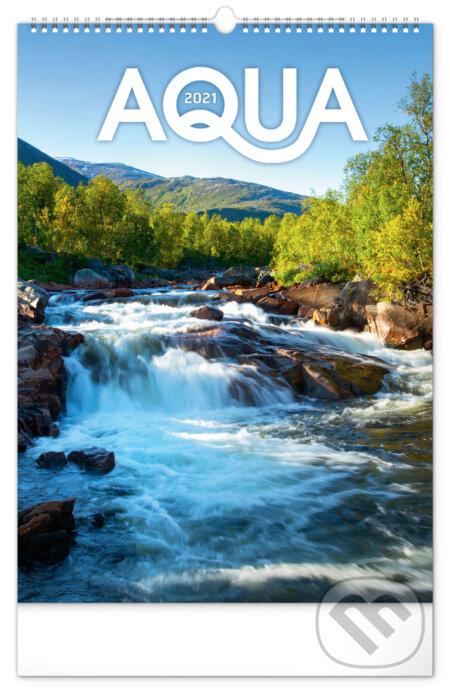 Nástěnný kalendář Aqua 2021 - Presco Group