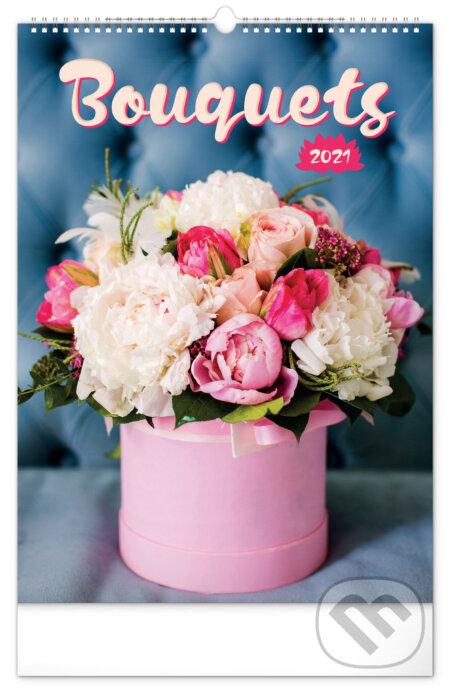 Nástěnný kalendář Bouquets 2021 - Presco Group