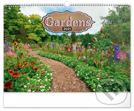 Nástěnný kalendář Gardens 2021 - Presco Group