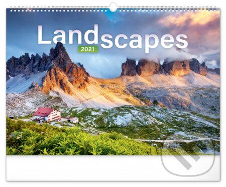 Nástěnný kalendář Landscapes 2021 - Presco Group