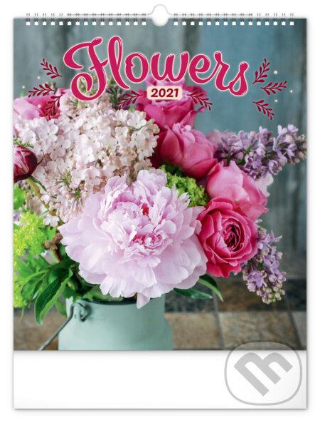 Nástěnný kalendář Flowers 2021 - Presco Group