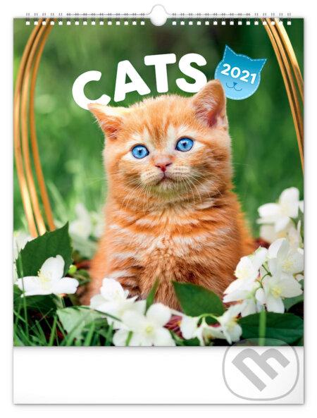 Nástěnný kalendář Cats 2021 - Presco Group