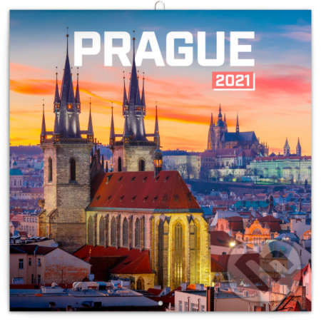 Poznámkový nástěnný kalendář Prague 2021 (Praha) - Presco Group