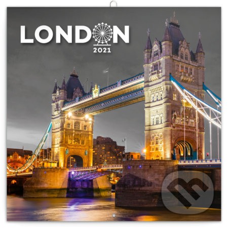 Poznámkový nástěnný kalendář London 2021 - Presco Group