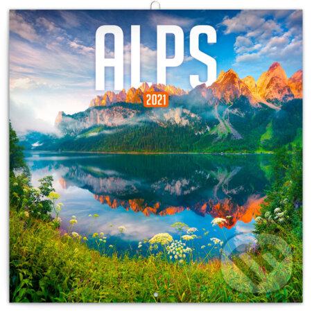 Poznámkový nástěnný kalendář Alps 2021 - Presco Group