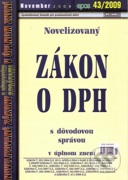 Fatimma.cz Novelizovaný Zákon o DPH s dôvodovou správou 43/2009 Image