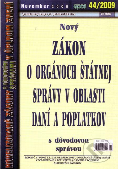 Newdawn.it Nový Zákon o orgánoch štátnej správy v oblasti daní a poplatkov 44/2009 Image