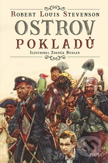Ostrov pokladů - Louis Robert Stevenson, Zdeněk Burian (ilustrácie)