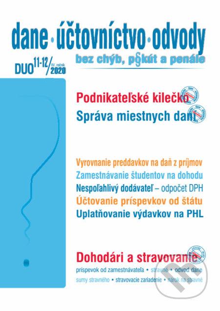 Dane, účtovníctvo, odvody 11-12 / 2020 - Zmeny v daniach, účtovníctve a podnikaní - Poradca s.r.o.