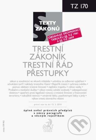 Peticenemocnicesusice.cz Trestní zákoník, Trestní řád, Přestupky Image