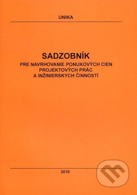 Fatimma.cz Sadzobník pre navrhovanie ponukových cien projektových prác a inžinierskych činností 2010 Image