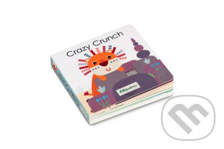Kniha na precvičenie sluchu a hmatu Crazy Crunch - Djeco