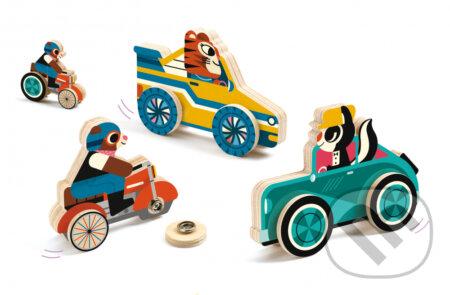 Clip´n´roll - drevená edukatívna hračka - Djeco