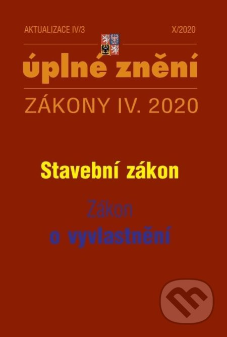 Aktualizace IV/3 2020 Stavební zákon, Zákon o vyvlastnění - Poradce s.r.o.