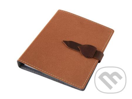 Kožený diář A5: Ořechový kožený - Obaly na knihy
