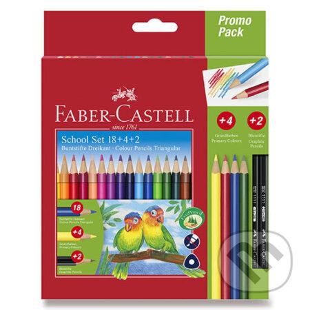 Faber - Castell Pastelky trojhranné 18 ks + 4ks + 2ks tužek - Faber-Castell