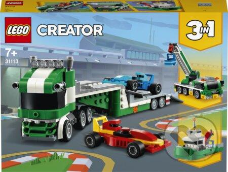 Kamión na prepravu pretekárskych áut - LEGO