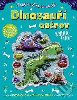 Trojrozměrné samolepky - Dinosauří ostrov - Stuart Lynch